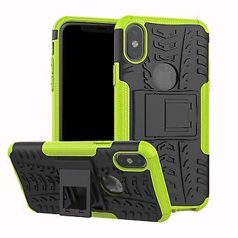 Pro Shockproof Silikon Kickstand Zırh Telefon Kılıfı Kapağı
