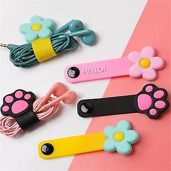 Cute Cartoon Cable Winder Earphone Storage Cable Organizer