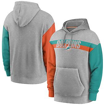 Mannen's Miami Dolphins Pullover Hoodie Hooded Sweatshirt 3WY210