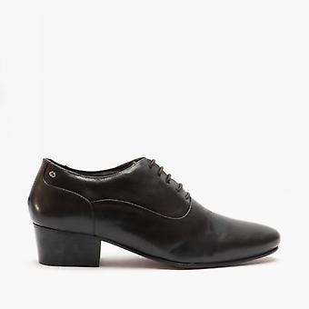 Club Cubano Toni Mens Leather Cuban Heel Shoes Brown