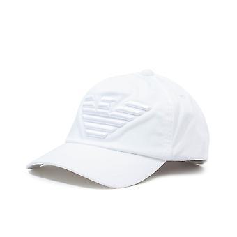 Emporio Armani Tonal Logo Baseball Cap - White