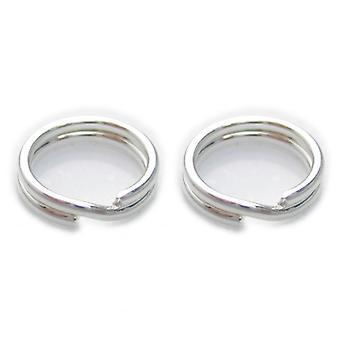 2 X 6mm Split Ringen Sterling Zilver .925 Charm Sleutelhangers Ringen - 6009
