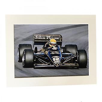 Larrini Senna Lotus Jps A4 Mounted Photo