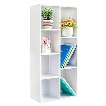 Bücherregal - weiß - 7 Regale - 50x24x106 cm