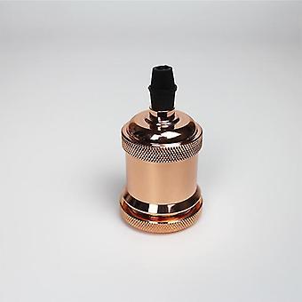 אלומיניום וינטג' אדיסון, 5 מנורת צבע ראש אור, שקע בורג הנורה, בסיס