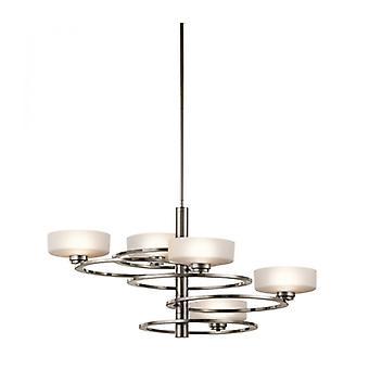 Lámpara Colgante Aleeka Max 135 Cm, Peltre, 5 Bombillas