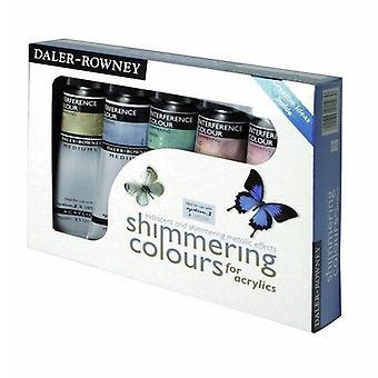 Daler Rowney akryl skimrande färger Uppsättning av 5 x 75ml