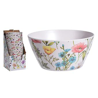 Excellent Housewares Bamboo Fibre Bowl Lou Lou Flower 177401210