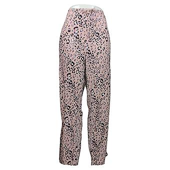 Carole Hochman Women's Pajama Pants Silky Velour Animal Print Pink A368290
