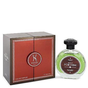Hayari Only For Him Eau De Parfum Spray By Hayari 3.4 oz Eau De Parfum Spray