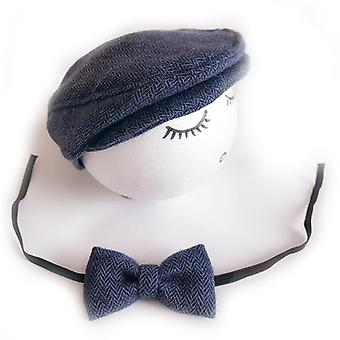 Vauvan hattu ja solmio - Käsintehty vastasyntynyt valokuvaus rekvisiitta Korkki