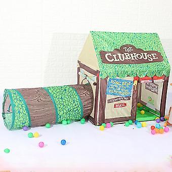 Kotitalous lapset tulostaa pelata teltta pieni peli talo käytävä (vihreä)