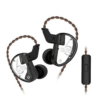 KZ Audio KZ AS06 - Triple Driver In-ear Earbuds - Black