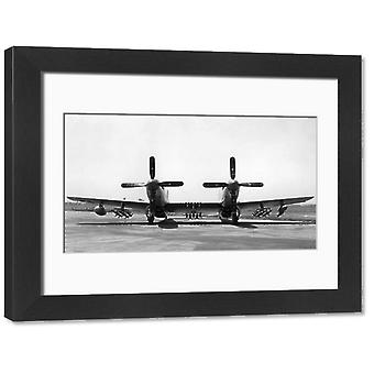 North American P-82 Twin Mustang. Large Framed Photo. North American P-82 Twin Mustang.