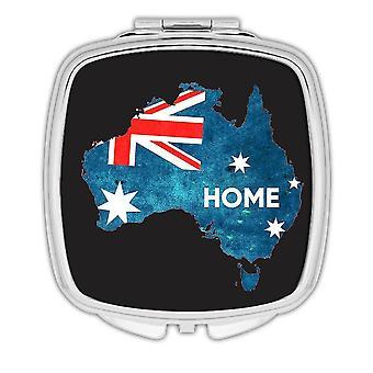 Gift Compact Mirror: HOME Map AUSTRALIA Australian