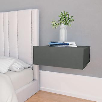 vidaXL hengende nattbord grå 40 x 30 x 15 cm sponplater