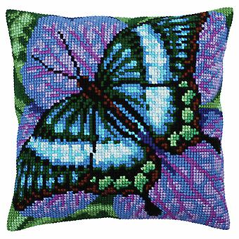 Collection d'Art Cross Stitch Kit: Cushion: Volatic Turquoise