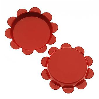 Final Sale - New Red Flower Bottle Caps Craft Scrapbook Jewelry No Liners 25mm (24)