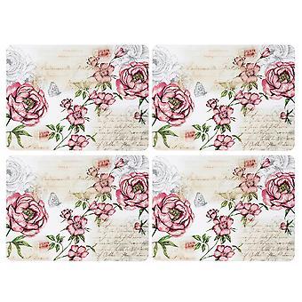 الإنجليزية أدوات المائدة شركة مجموعة الأزهار من 4 Placemats