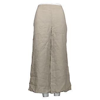 J.Jill Women's Pants Linen Wide Leg Pants with Pockets Beige A390676