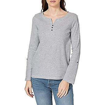 Tom Tailor Henley Striped 1024036 T-Shirt, 26053 Offwhite Navy Small, XS Femme