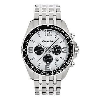 Gigandet G12 - 004 - Men's watch, silver stainless steel strap