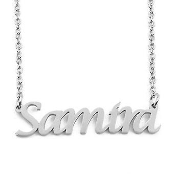 KL Kigu Samira - Kvinders halskæde med navn, i sølv