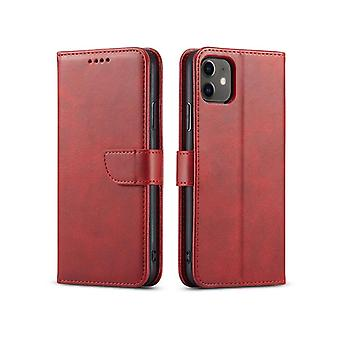 Flip folio leather case for samsung a70 red pns-805