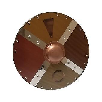 Puinen/metalli keskiaikainen kiillotettu Viking Shield SWE71