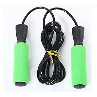 """20 * 2.6 * 3.5 ס""""מ חוט פלדה ירוק חבלי קפיצה מתכווננים עם ידיות נגד החלקה x4157"""