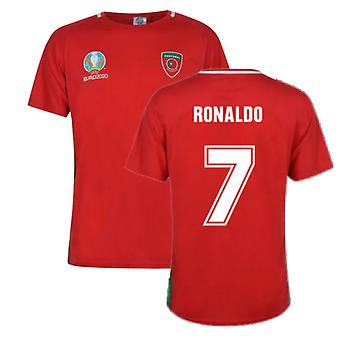 Portugal 2021 Polyester T-Shirt (Red) (RONALDO 7)