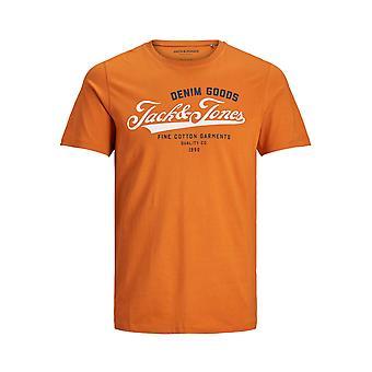 Men Jack & Jones O-Neck T-Shirt Modern Design JJELOGO Short Sleeve Shirt Jersey