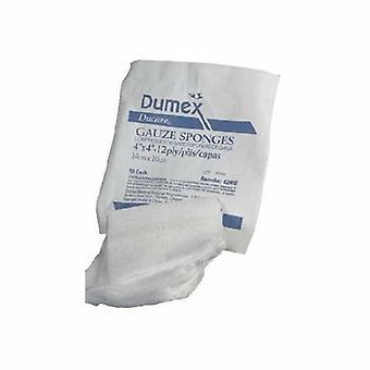 Derma Sciences USP Type VII Gauze Sponge Ducare Cotton 8-Ply 4 X 4 Inch Square NonSterile, 200 Count