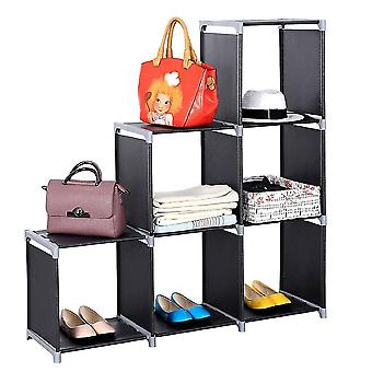 Multifunctional Assembled 3 Tiers 6 Compartments Storage Shelf (us/uk Order Only)