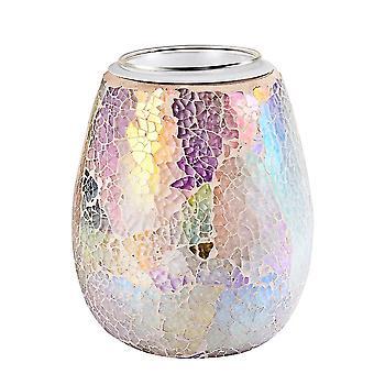 3d mozaïek glas elektrische wax smeltbrander nachtlamp