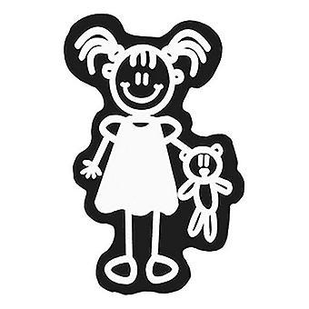 Car Sticker Family Girl Teddy Bear