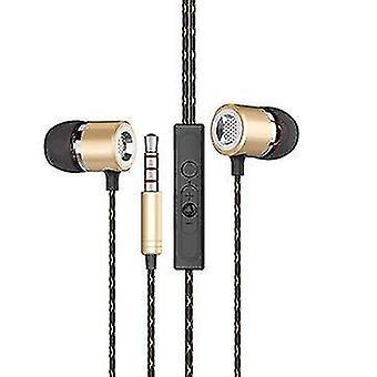 Fanbiya S1 HiFi Metal Heavy Bass Øretelefon 3,5 mm Støjreducerende 5D Stereo In-ear