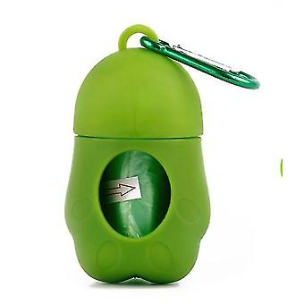 Portable pet garbage bag cat and dog toilet picker(Green)
