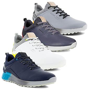 Ecco Mens 2021 M Golf S-Three Spikeless Waterdichte Fluleer Golfschoenen