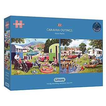 Gibsons Caravan Outings Jigsaw Puzzles (2 x 500 Pieces)
