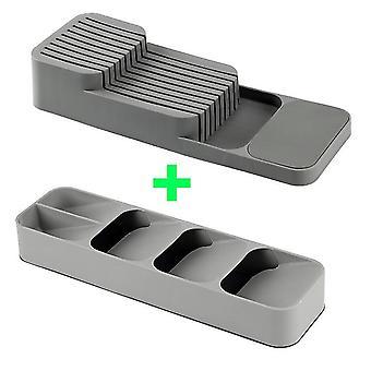 Tableware Organizer Cutlery Storage Tray Knife Holder Spoon Fork Storage Box Drawer Plastic