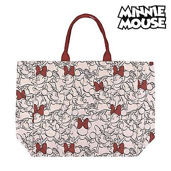 Bag Minnie Mouse Handles Red Beige