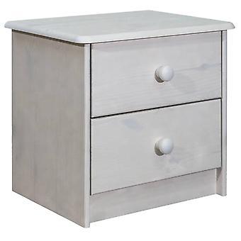 mesa de cabeceira vidaXL 43x34x40 cm pinheiro de madeira maciça