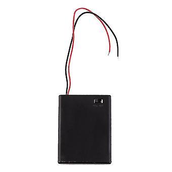 ポータブルおよびミニバッテリーのスレイジボックスホルダー4pcs Aaaバッテリーケース(蓋とスイッチ付)