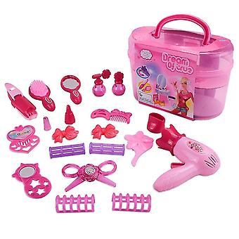 Pretend professions role playing girls make up toy set simulation handle box pretend cosmetic makeup