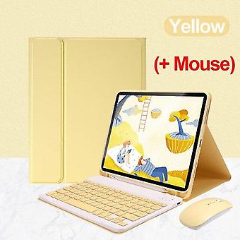 Qwert 2020/2018iPadPro11/10.9 Generatie Toetsenbord Muisgeval Draagbaar ontwerp Toetsenborden (geel)