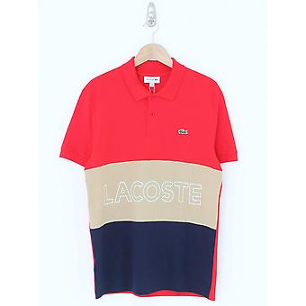 Lacoste Colorblock Polo - Red/Navy