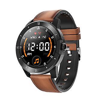 Chronus Älykello Miehet ja naiset Ip68 Vedenpitävä Musiikkisoitin Bluetooth Soita Sport Smart Watch Android Ios Smart Watchille (ruskea)