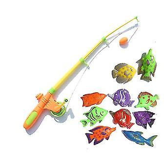 Magnetische visserij speelgoed-simulatie telescopische hengel en vissen
