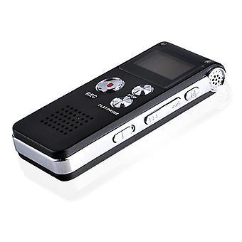Multifunkcionális újratölthető 16GB digitális hangrögzítő Diktafon MP3 lejátszó mp3